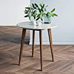 nathan-james-41401-amalia-round-marble-bistro-dining-table-with-legs-in-wood-finish-and-faux-white-carrara-marble-table-top-antique-coffee reviews