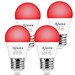 pic of led-red-light-bulb-dimmable-40w-equivalent-a15-red-light-bedroom-night-light-party-decoration-porch-holiday-lighting-e26-base-5w-4pack reviews