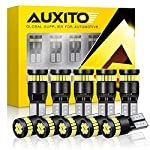 pic of auxito-194-led-light-bulb-6000k-white-168-2825-w5w-t10-wedge-24-smd-3014-chipsets-led-replacement-bulbs-error-free-for-car-dome-map-door-courtesy-license-plate-lights-pack-of-10 reviews