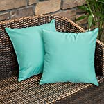 miulee-pack-of-2-decorative-outdoor-waterproof-pillow-cover-square-garden-cushion-case-pu-coating-throw-pillow-cover-shell-for-tent-park-couch-18x18-inch-light-green reviews