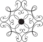 pic of super-z-outlet-square-scrolled-metal-wall-medallion-decor-bronze reviews