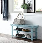pic of convenience-concepts-oxford-utility-mudroom-bench-sea-foam reviews
