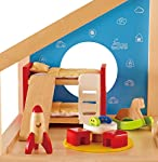 pic of hape-wooden-doll-house-furniture-children-s-room-with-accessories reviews