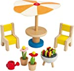 hape-wooden-doll-house-furniture-patio-set-with-accessories reviews