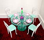 pic of my-fancy-life-dollhouse-furniture-meal-time-green-dinning-table-play-set reviews