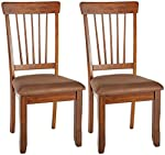 pic of signature-design-by-ashley-berringer-dining-side-chair-spindle-back-set-of-2-hickory-stain-finish reviews