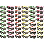 48-pack-party-glasses-80s-party-favors-plastic-neon-sunglasses-perfect-for-bachelorette-or-bachelor-party-supplies-assorted-colors reviews