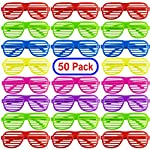 mega-pack-50-pairs-of-kids-plastic-shutter-shades-glasses-shades-sunglasses-eyewear-party-favors-and-party-props-assorted-colors picture