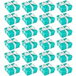 wedding-gift-boxes-24-pack-candy-favor-boxes-diy-assembly-small-treat-boxes-perfect-for-guest-favors-anniversary-proposal-and-engagement-party-turquoise-3-7-x-3-7-x-1-6-inches picture