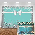 mehofoto-breakfast-blue-bow-knot-birthday-backdrop-sweet-16-turquoise-bow-photography-background-7x5ft-vinyl-bridal-shower-wedding-party-banner-supplies-backdrops reviews