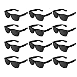 pic of super-z-outlet-plastic-vintage-retro-style-sunglasses-classic-shades-eyewear-party-prop-favors-12-pairs-black- reviews