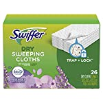 swiffer-sweeper-dry-mop-pad-refills-for-floor-mopping-and-cleaning-all-purpose-floor-cleaning-product-lavender-vanilla-and-comfort-scent-52-count picture